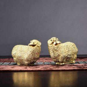 Cặp Cừu Đồng Để Bàn DDB005
